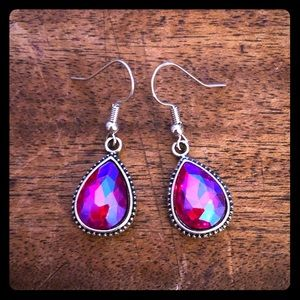 💗Hot Pink Teardrop Earrings💗